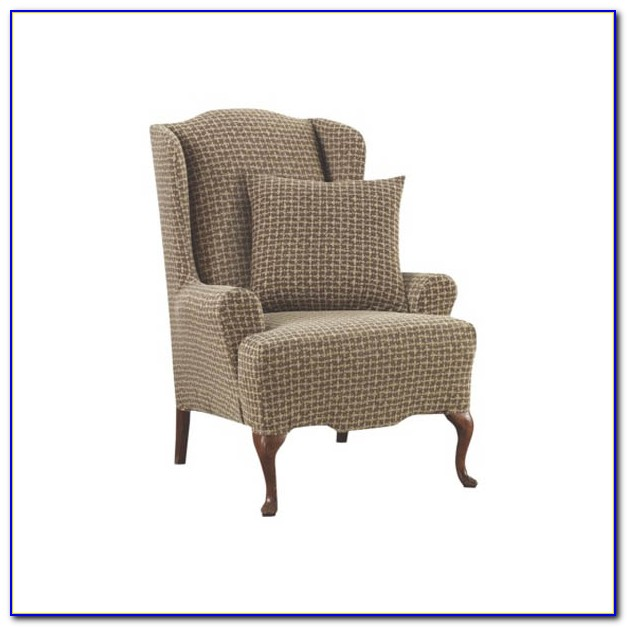 Wing Chair Slipcovers With Separate Cushion Cover
