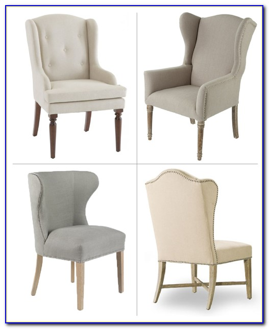 Wingback Dining Chair With Nailhead Trim