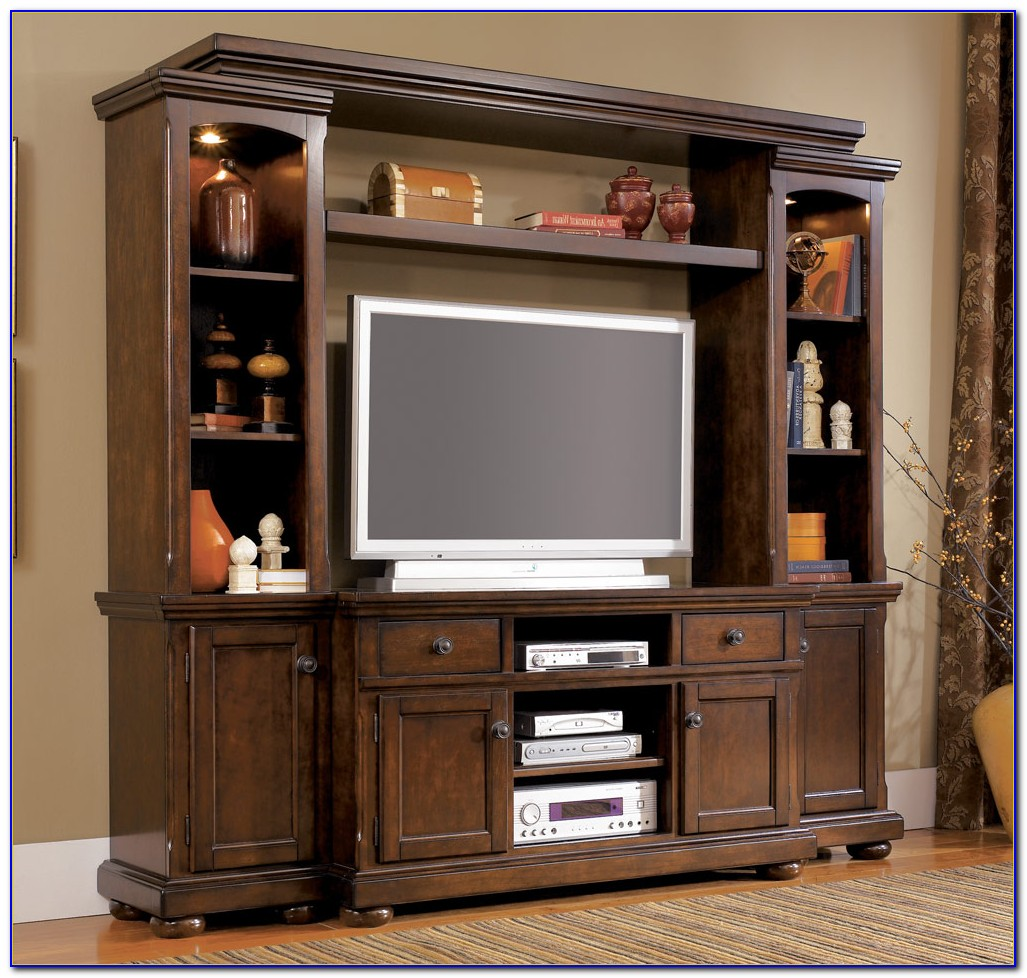 Ashley Furniture Entertainment Center W Framed Glass Doors