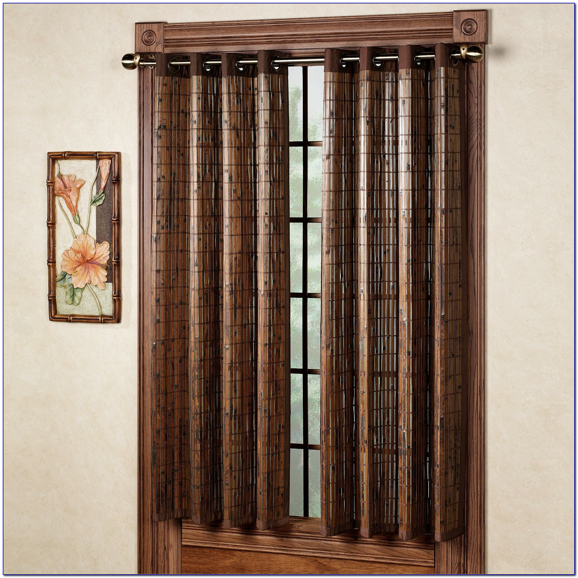Bamboo Print Curtain Panels