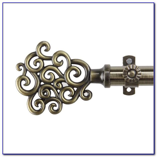 Brass Curtain Rod Hardware