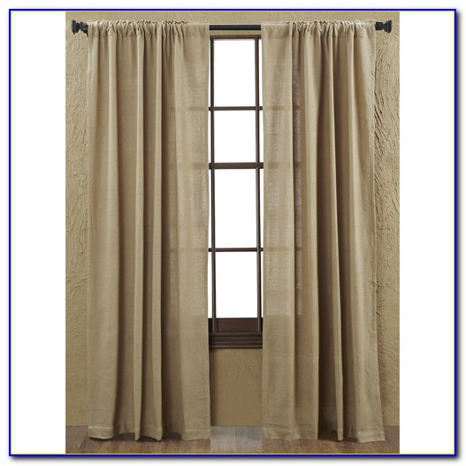 Burlap Curtain Panels 84