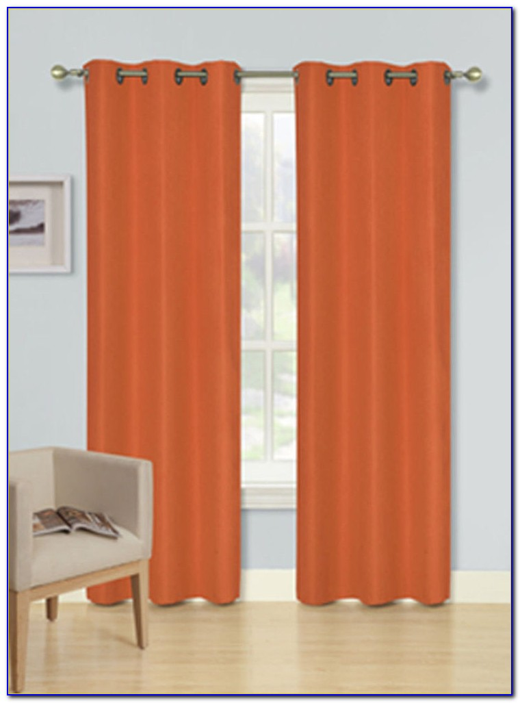 Burnt Orange Curtains And Cushions