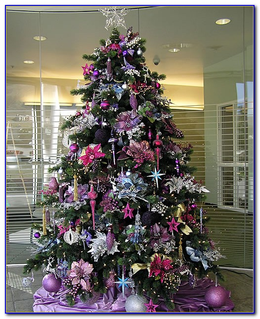 Christmas Trees Decorated With Mesh