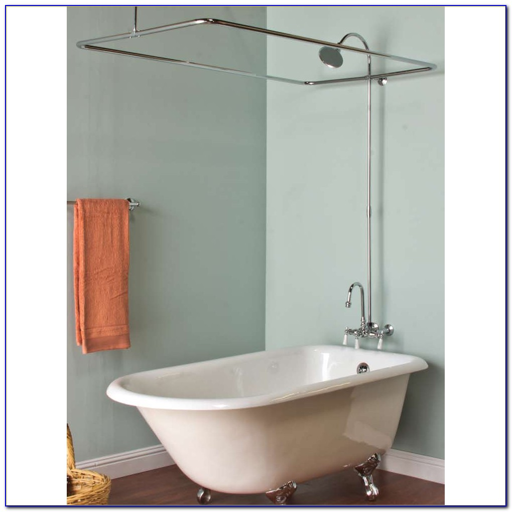 Clawfoot Tub Shower Curtain Rod Support