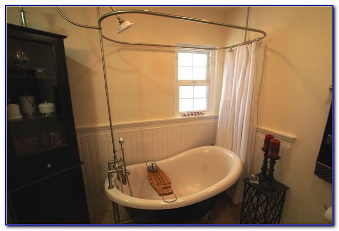 Clawfoot Tub Shower Curtain Width