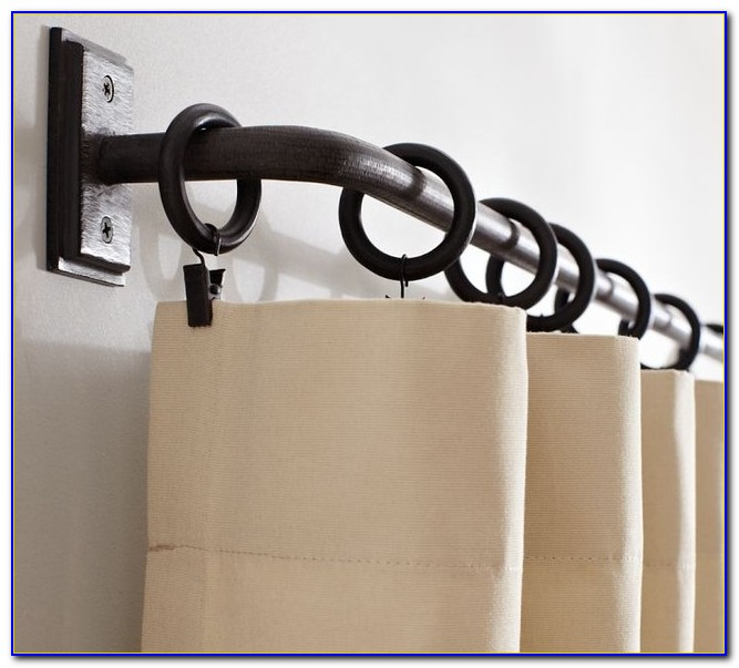 Curtain Rod Holders Wooden