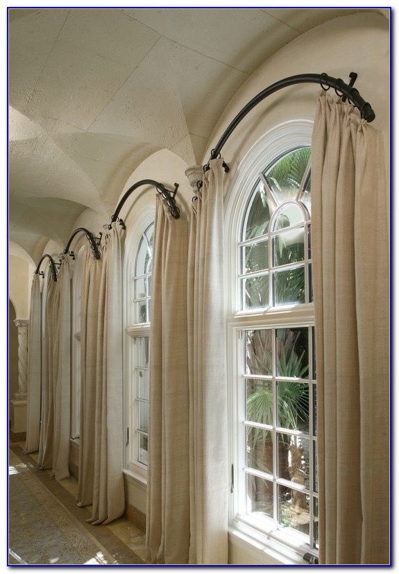 Curved Window Curtain Rod Canada