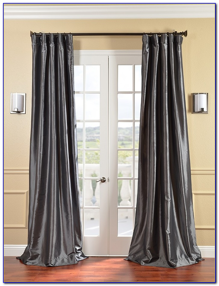 Faux Silk Curtains 108 Length