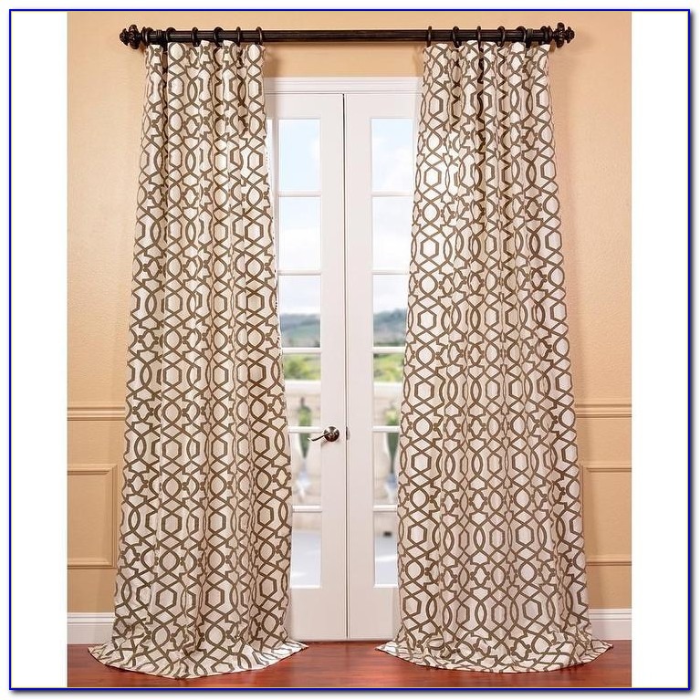 Faux Silk Curtains Cream