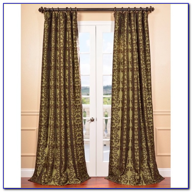 Faux Silk Curtains Ebay