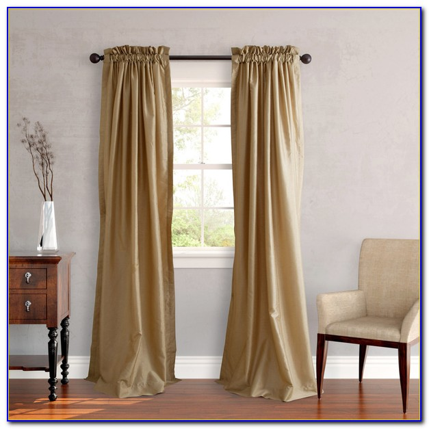 Faux Silk Curtains White