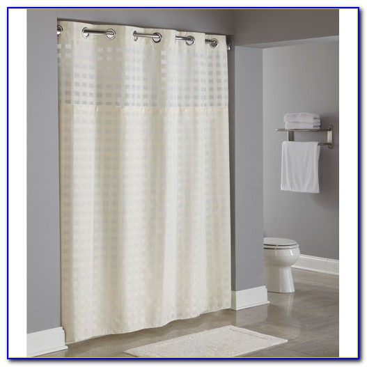Hookless Shower Curtains With Snap On Liner