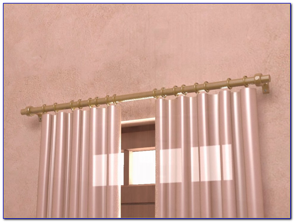 How To Install Curtain Rods Over Blinds