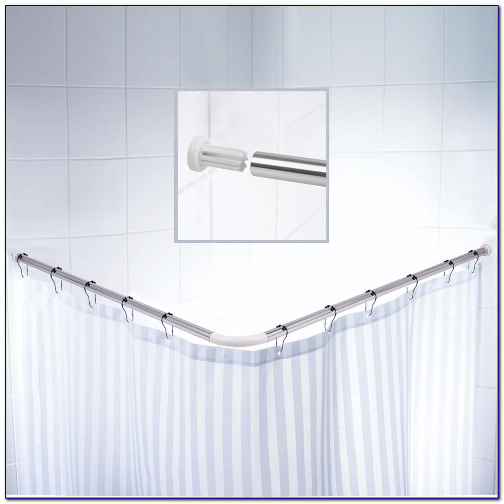 L Shaped Curtain Rod For Corner Window