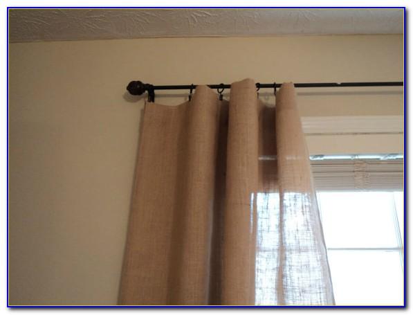 Lined Burlap Curtain Panels
