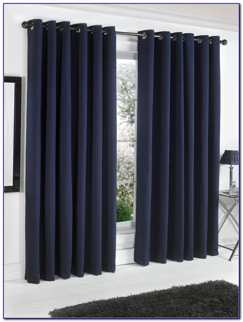Navy Blackout Curtains Grommet