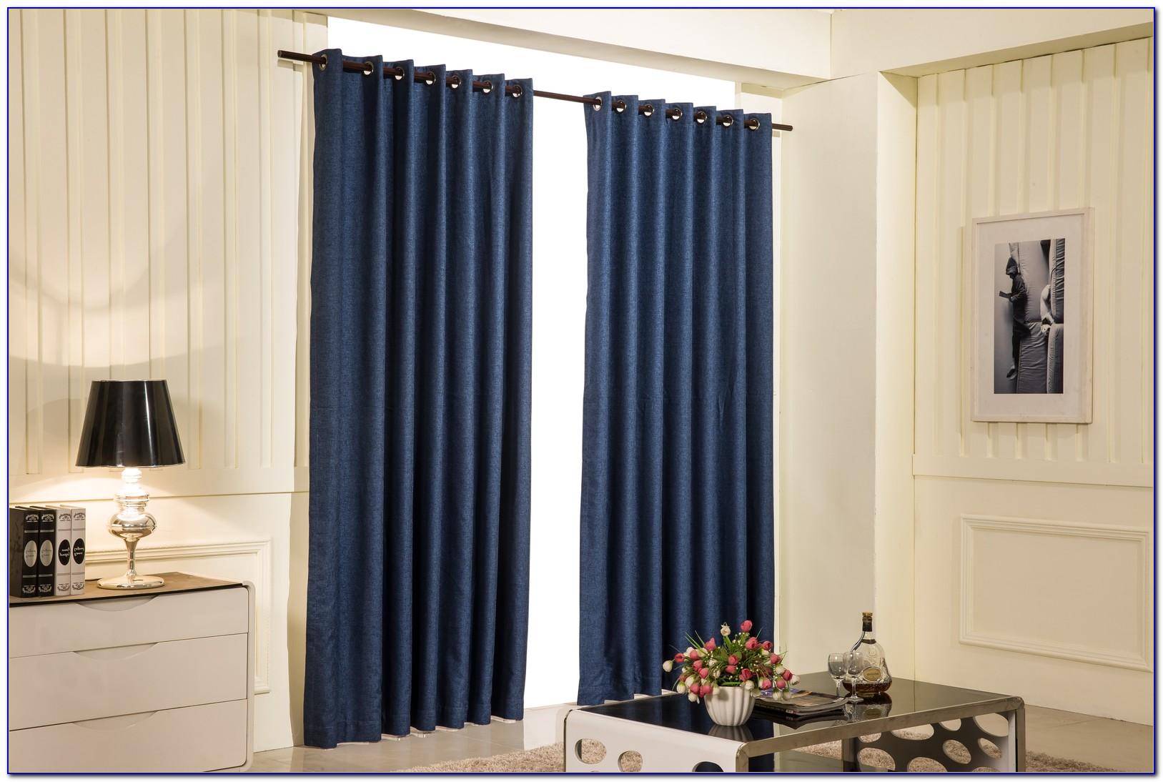 Navy Blackout Curtains Uk