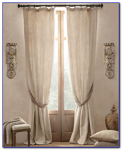 Restoration Hardware Curtains Linen