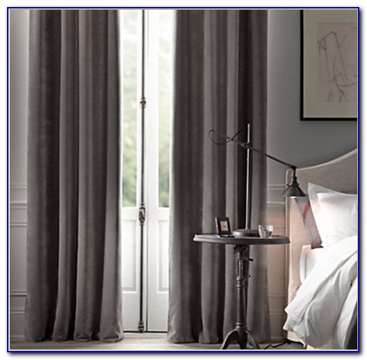 Restoration Hardware Curtains Striped Silk