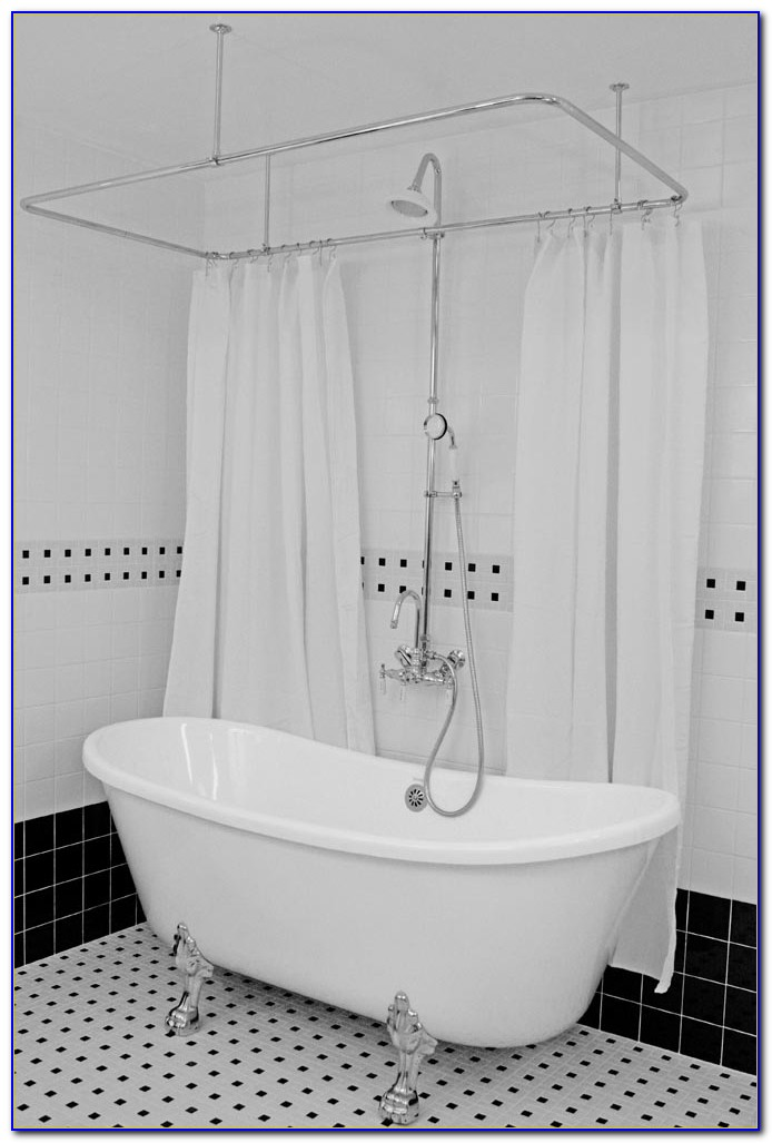 Shower Curtain For Clawfoot Tub With Magnets