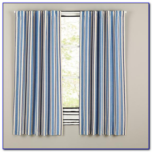 Striped Curtain Panels Blue