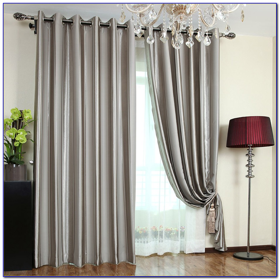Striped Curtain Panels Brown