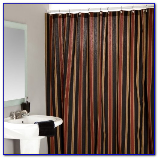 Striped Shower Curtain Black And White