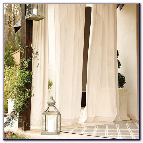 Sunbrella Outdoor Curtains White