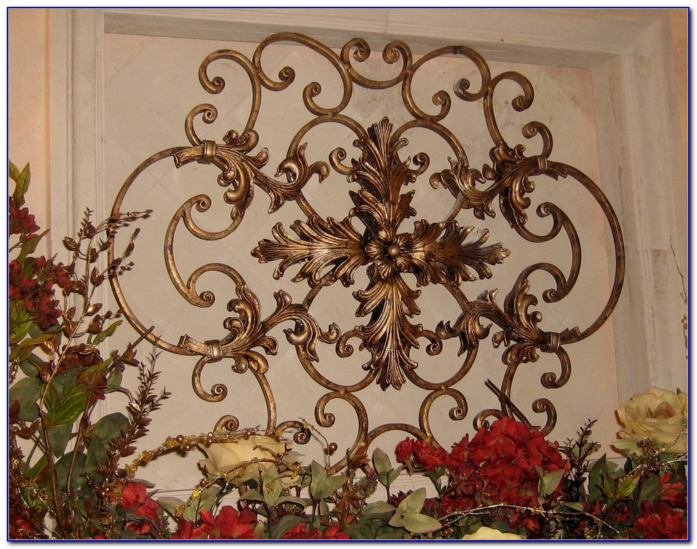 Wrought Iron Wall Decor Over Bed