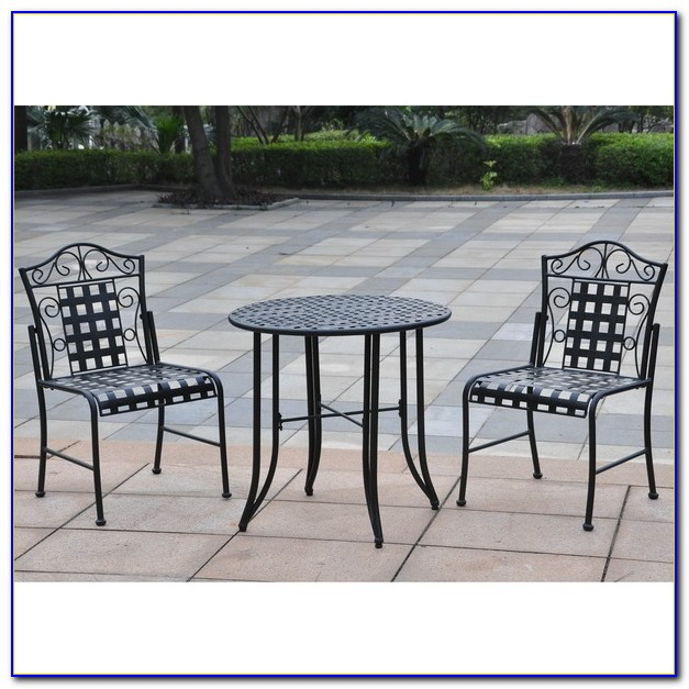 3 Piece Outdoor Bistro Set Bar Height