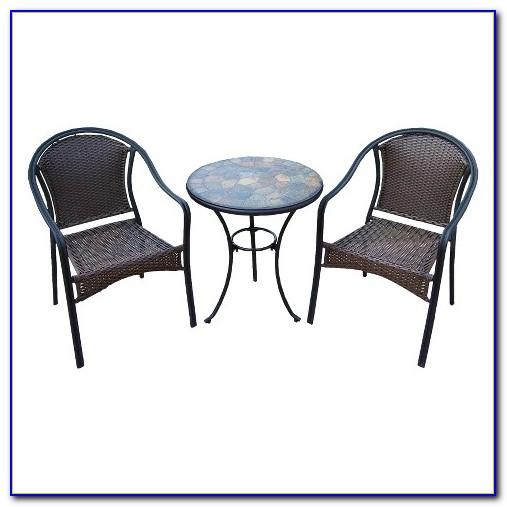 3 Piece Outdoor Bistro Set Seats 2