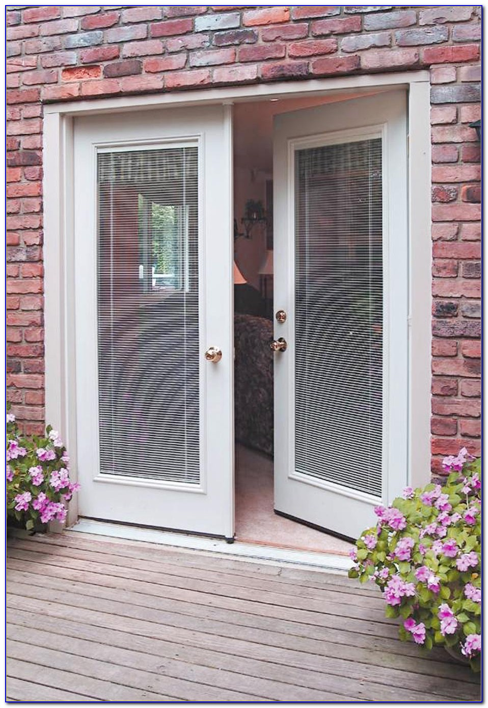 Anderson French Patio Doors With Built In Blinds