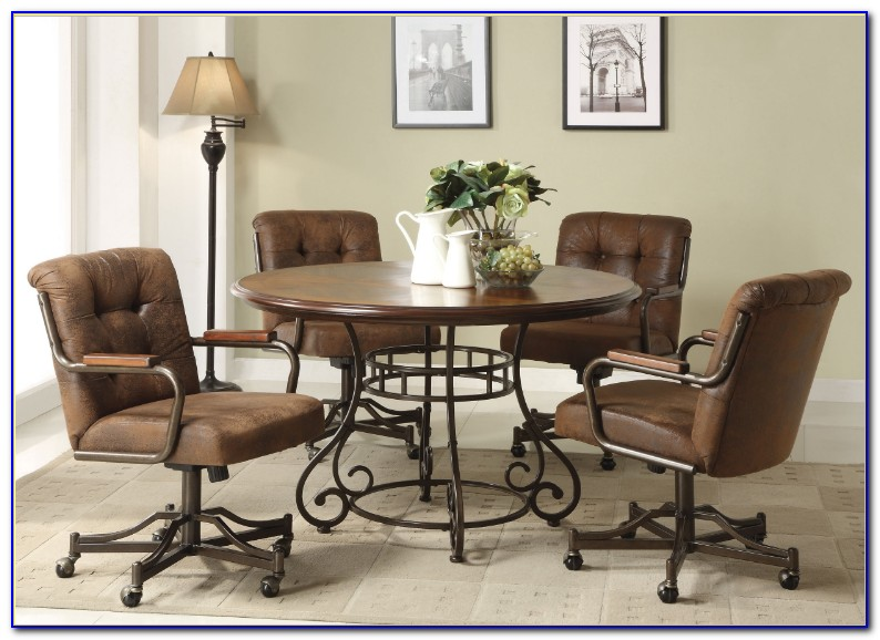 Armless Kitchen Chairs With Casters