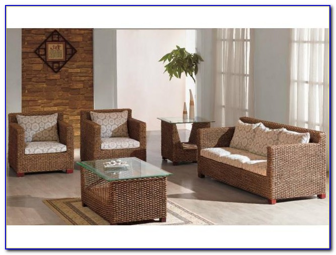 Bamboo Rattan Living Room Furniture