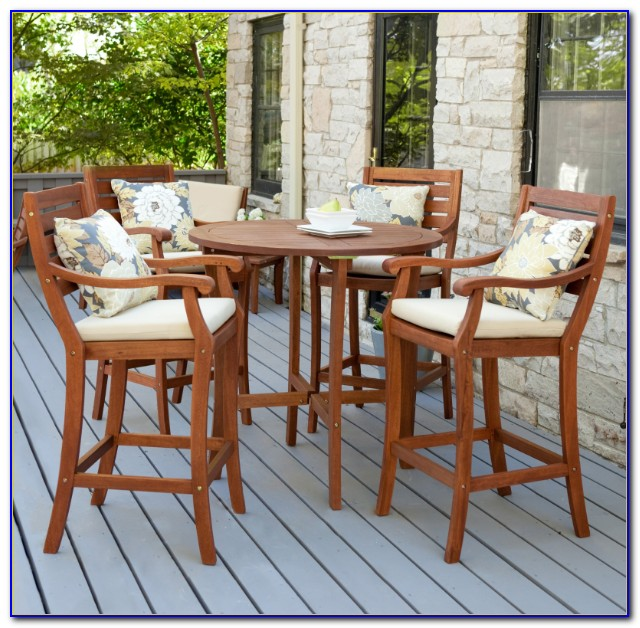 Bar Height Patio Set With Swivel Chairs