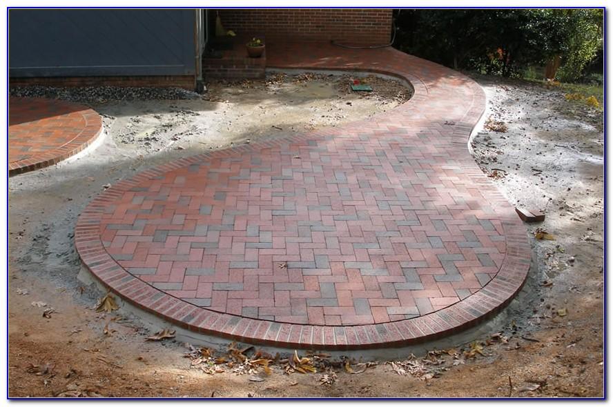 Brick Patio Patterns Herringbone