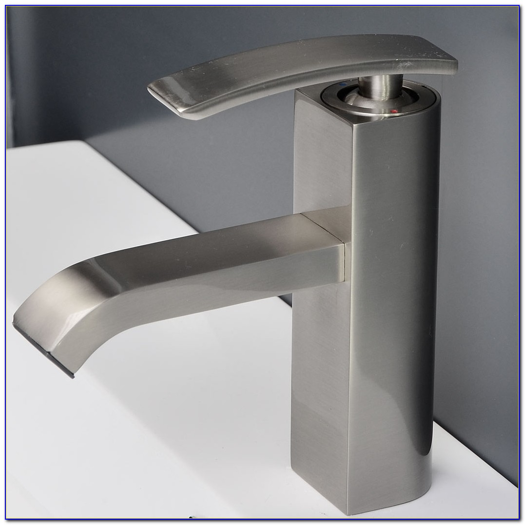 Brushed Nickel Kitchen Faucet With Soap Dispenser