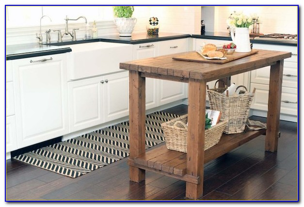 Butcher Block Kitchen Island With Stools
