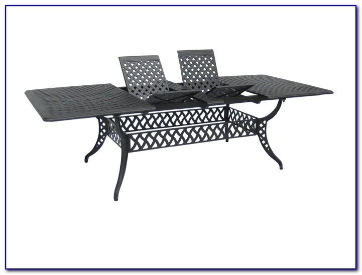 Cast Aluminum Patio Table Rectangular