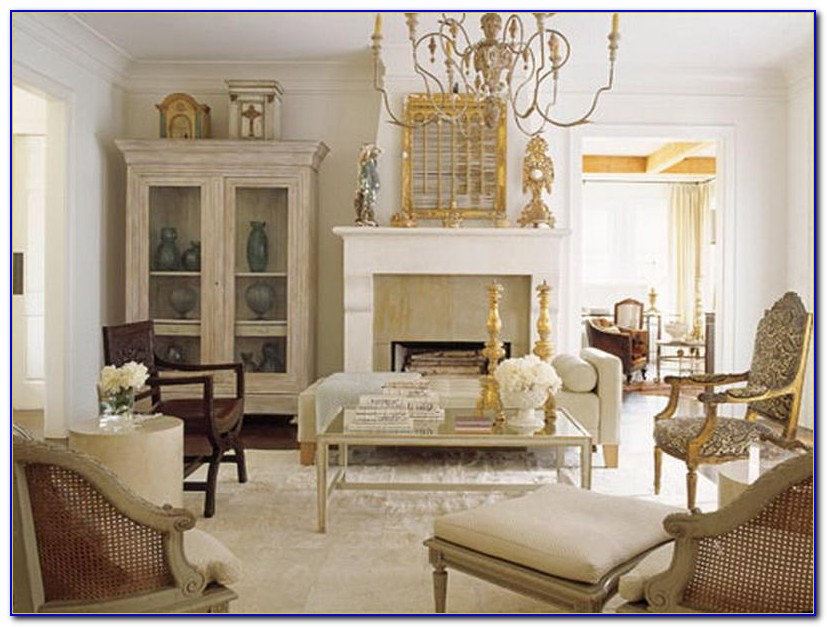 French Country Upholstered Living Room Chairs