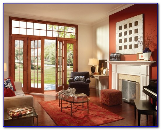 French Patio Doors With Built In Blinds