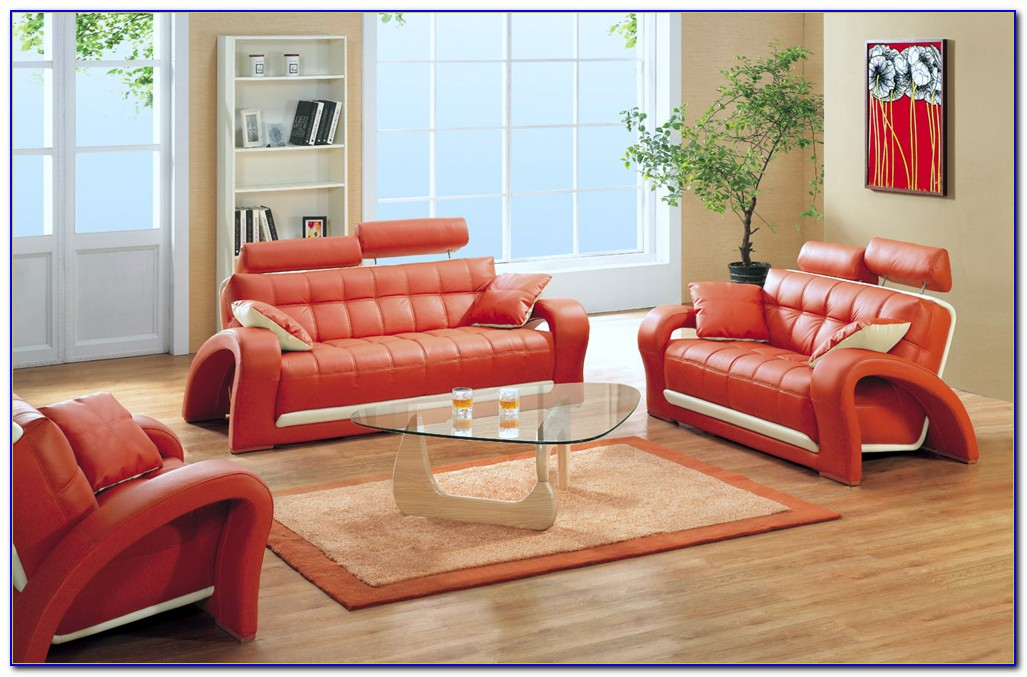 Futon Sofa Bed 3 Piece Living Room Set
