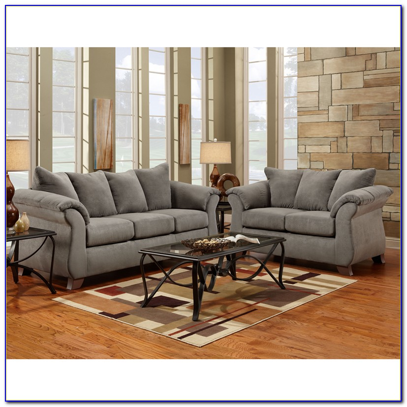 Gray Microfiber Living Room Sets