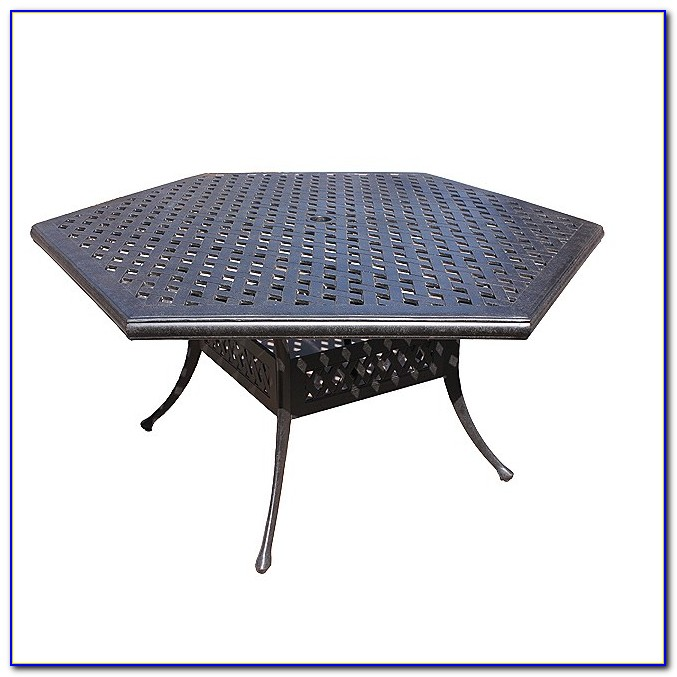 Hexagon Patio Table With 6 Chairs