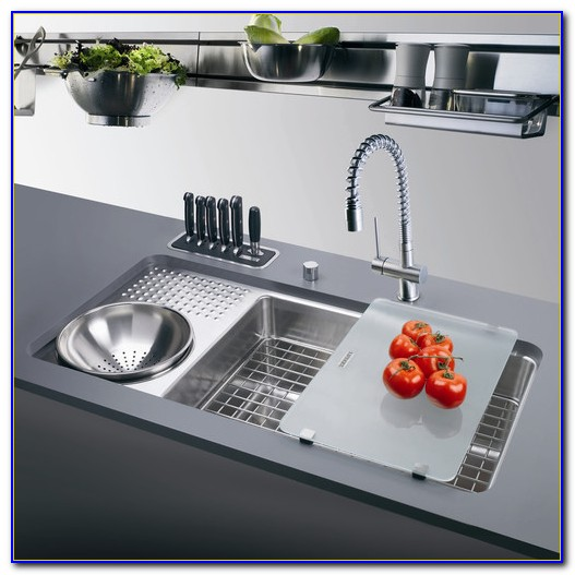 Kitchen Sink With Drainboard Stainless Steel