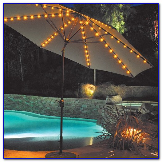 Lighted Patio Umbrellas