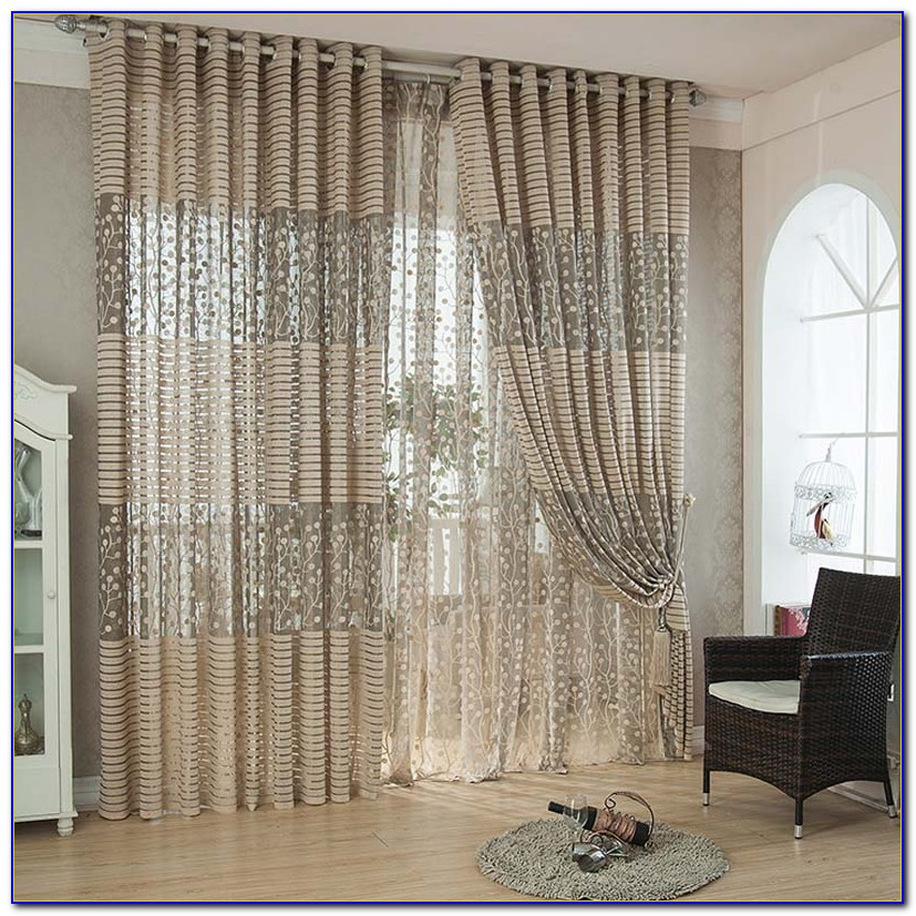 Living Room Window Curtain Sets