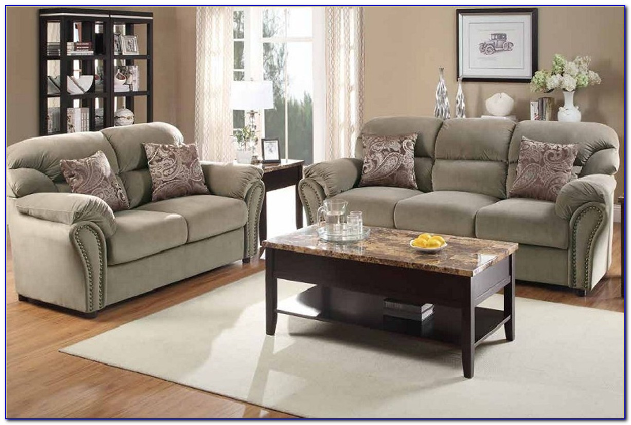 Microfiber Living Room Sets