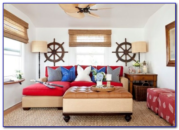 Nautical Decorated Living Room